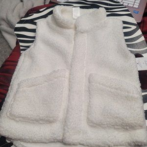 Brand New Carters white Sherpa vest